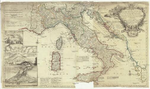 A new map of Italy distinguishing all the sovereignties in it, whether states, kingdoms, dutchies, principalities, republicks & c