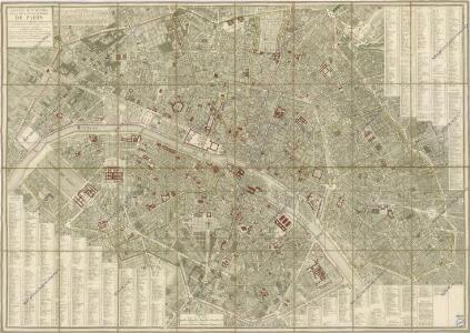 Nouveau plan routier de la ville et des Faubourgs de Paris