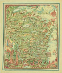 Historical map of Wisconsin