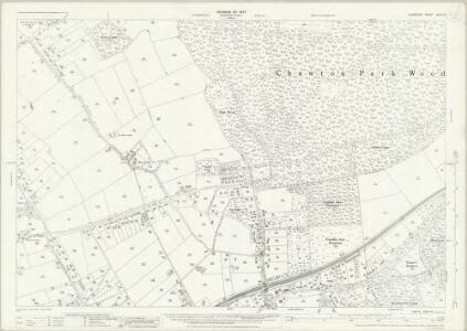 Hampshire and Isle of Wight XXXV.13 (includes: Chawton; Farringdon; Four Marks; Medstead) - 25 Inch Map