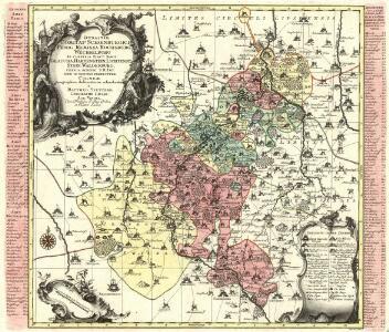 Dynastiae Comitatus Schoenburgici Penig, Remissa, Rochsburg, Wechselburg In Clientela Elect: Saxon Glaucha, Hartenstein, Lichtenst. Stein, Waldenburg