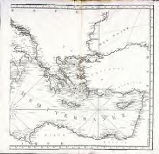 Carte de la Mer Méditerranée, 2