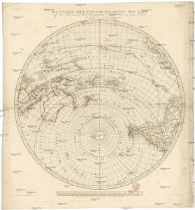 Die untere oder südliche Halbkugel der Erde