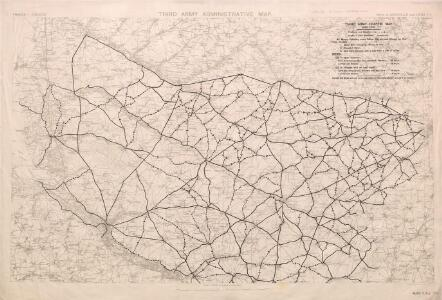 Third Army Traffic Map: June 1918