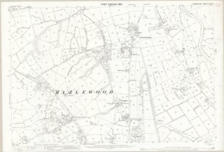 Derbyshire XLIV.4 (includes: Belper; Hazlewood; Milford; Shottle and Postern) - 25 Inch Map