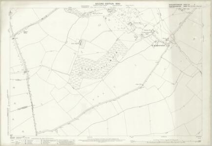 Northamptonshire XX.5 (includes: Denton and Caldecote; Folksworth and Washingley; Glatton; Lutton; Stilton) - 25 Inch Map