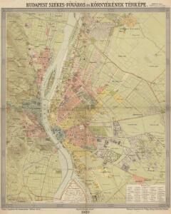 Budapest székes-főváros és környékének térképe
