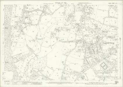 Surrey IV.12 (includes: Egham) - 25 Inch Map