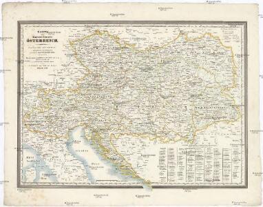Karte des Kaiserthumes Österreich
