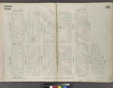 Plate 32: Map bounded by Houston Street, Crosby Street, Prince Street, Marion Street, Spring Street, Laurens Street.