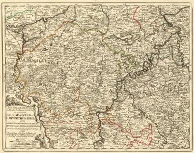 Les Courans des Riviers de Meuse de Mozel et de la Sar ou se trouvent le Luxembourg et l'Archeveché de Treves
