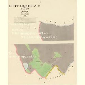 Lhotta ober Rohanow - c3934-1-001 - Kaiserpflichtexemplar der Landkarten des stabilen Katasters