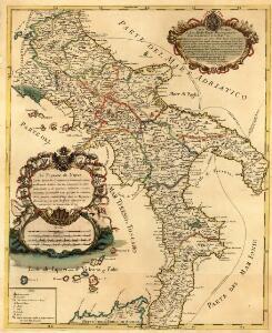 Le Royaume de Naples Carte nouvelle Originale & Curieuse, nouvellement dresée Sur les memoires les plus recentes, accomondée a ce qui fait le théatre de la guerre aujourd'huy dans ce Royaume