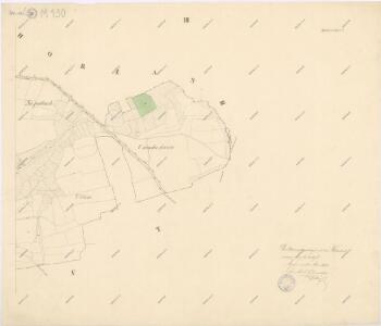 Katastrální mapa obce Spáňov