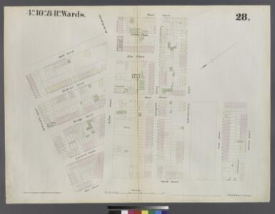 [Plate 28: Map bounded by Willoughby Street, Gold Street, Fulton Avenue, Bond Street, Schermerhorn Street, Hoyt Street, Jay Street]