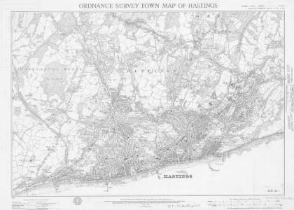 Ordnance Survey Town Map of Hastings