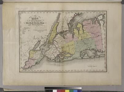 Map of the counties of New York, Queens, Kings, and Richmond.