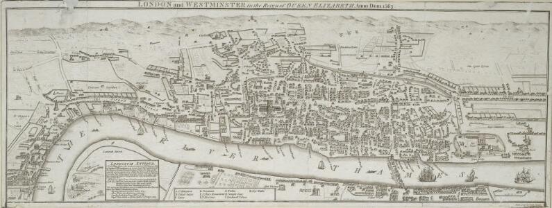 LONDON and WESTMINSTER in the Reign of QUEEN ELIZABETH, Anno Dom. 1563 25