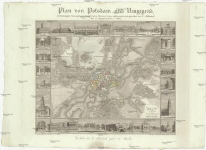 Plan von Potsdam und Umgegend