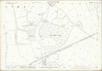 Hampshire and Isle of Wight XVII.16 (includes: Deane; Overton; Steventon) - 25 Inch Map