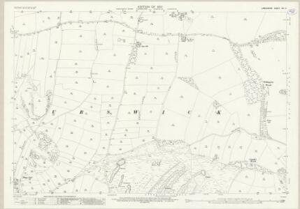 Lancashire XVI.11 (includes: Birkrig Common; Pennington; Ulverston; Urswick) - 25 Inch Map
