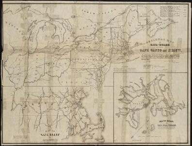 Skeleton map of the rail-roads between Cape Canso and St. Louis