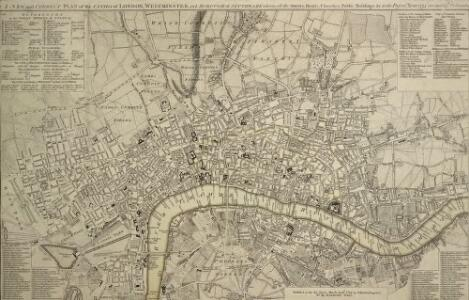 A NEW and CORRECT PLAN of the CITIES of LONDON, WESTMINSTER, and BOROUGH of SOUTHWARK wherein all the Streets, Roads, Churches, Public Buildings &c. to the Present Year 1775 are exactly Delineated