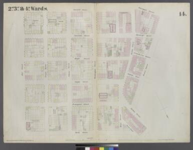 [Plate 14: Map bounded by Market, James Street, York Street, Jay Street, Concord Street, Fulton Avenue, Pineapple Street, Henry Street, Fulton Avenue]