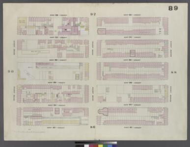 Plate 89: Map bounded by West 32nd Street, Eighth Avenue, West 27th Street, Tenth Avenue