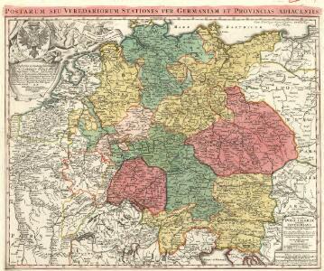 Neu-vermehrte Post-Charte durch gantz Teutschland nach Italien, Franckreich, Niederland, Preußen, Polen und Ungarn &c.