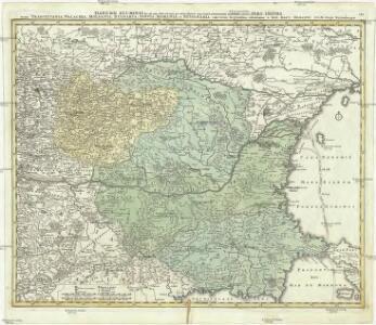 Danubii fluminis (hic ab urbe Belgrado, per Mare Negrum usq. Constantinopolim defluentis exhibiti)