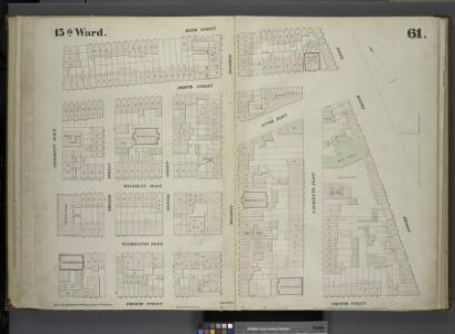 [Plate 61: Map bounded by East 9th Street, Fourth Avenue, Bowery, East 4th Street, University Place.]