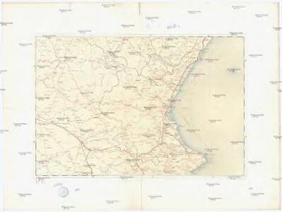 Mapa itinerario militar de Espana