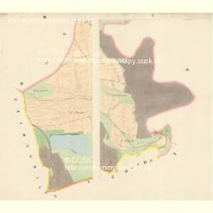 Wölleschin - c8366-1-003 - Kaiserpflichtexemplar der Landkarten des stabilen Katasters