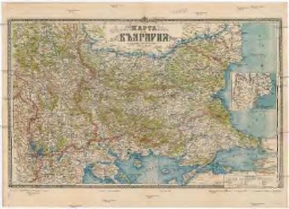 Karta na Bălgaria