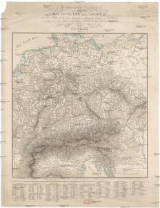 Oro-hydrographische Charte von Deutschland und der Schweiz