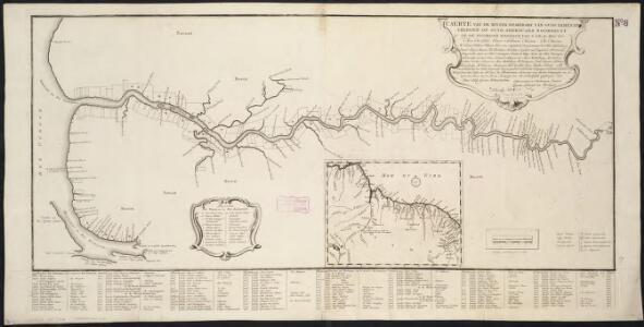 Caerte van de Rivier Demerary van ouds Immenary, geleger op Suyd Americaes Noordkust, op de Noorder Breedte van 6 Gr. 40