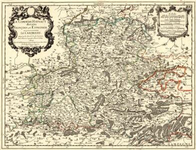 Le Comté de Haynaut divisé en François, et Espagnol