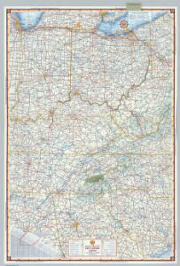 Shell Sectional Map No. 4 - East Central States.