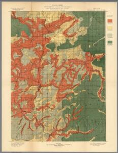 Plate CXXVIII.  Roseburg Quadrangle, Oregon, Land Classification and Density of Standing Timber.