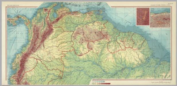 Ecuador, Colombia, Venezuela, Guiana.  Pergamon World Atlas.
