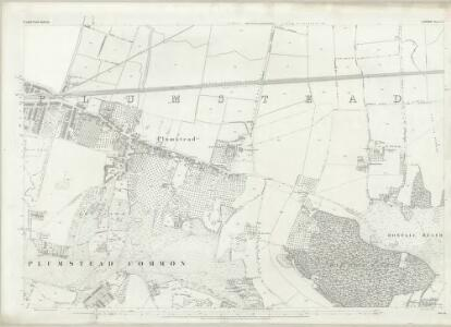 London (First Editions c1850s) LXI (includes: Borough Of Woolwich) - 25 Inch Map