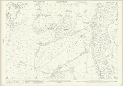 Denbighshire XIX.9 (includes: Clocaenog; Llanfwrog Rural; Llanrhaiadr Yn Cinmerch; Llanynys Rural; Y Gyffylliog) - 25 Inch Map