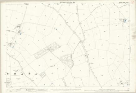 Durham XLVIII.12 (includes: Archdeanon Newton; Coatham Mundeville; Heighington; Walworth) - 25 Inch Map