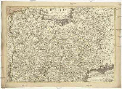 Le Dauphiné distingué en principales parties et regions selon les memoires les plus recents