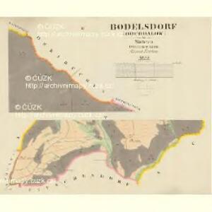 Bodelsdorf (Bochdalow) - m0126-1-002 - Kaiserpflichtexemplar der Landkarten des stabilen Katasters