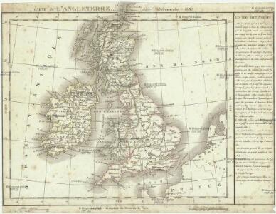 Carte de l' Angleterre