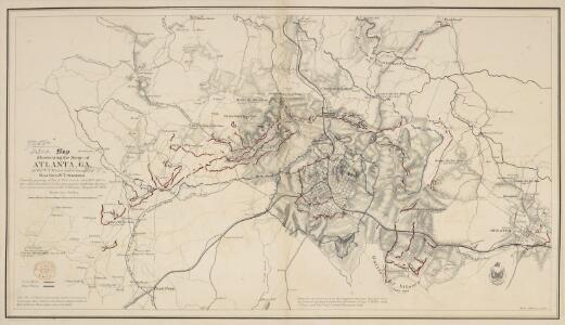 Map illustrating the Siege of Atlanta