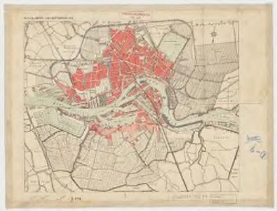 Platte grond van Rotterdam 1912