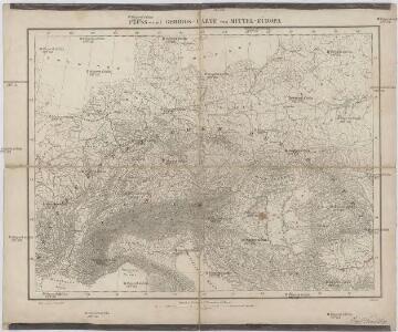 Fluss- und Gebirgs-Karte von Mittel-Eüropa